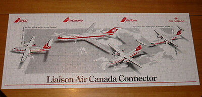 Vintage 1988 AIR CANADA Promo Jigsaw Puzzle Liasion Air Canada Connector 348 pcs