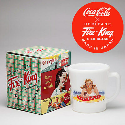 Coca-Cola × Fire‐King D handle Mug Cup Bathing Beauties from Japan