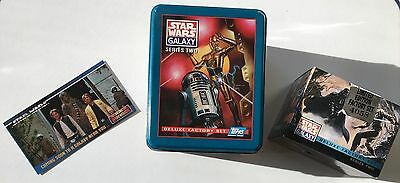 Star Wars Galaxy Series Ii Deluxe Factory Set With Tin Set Is Sealed + Promo Car