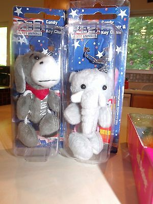 Pez Dispenser Party Animals Republican Elephant Gop & Democratic Donkey
