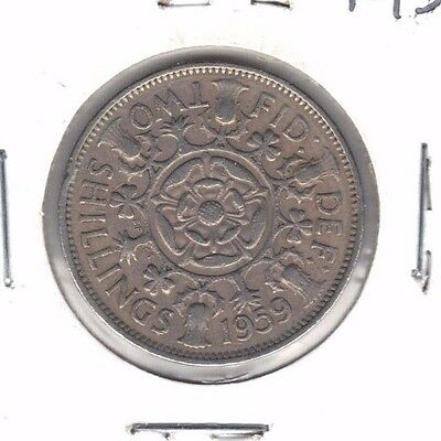 Great Britain 1959 Two Shilling Coin