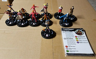 Wonder Woman Gravity Feed Hobby Set 001-011 + 015 Donna Troy Chase - Heroclix