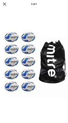 NEW Mitre Size 5 Rugby Ball Set And Bag 10 Balls In Set **reduced**