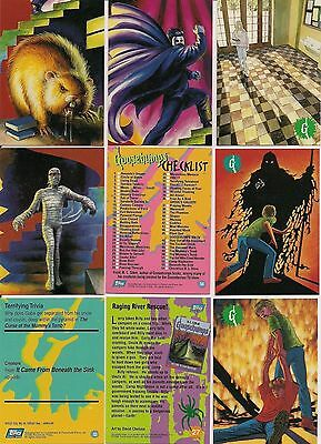 HTF TOPPS 1996 GOOSEBUMPS TRADING CARD SET nm/MINT FREE SHIPPING