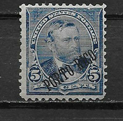 PUERTO RICO , US , 1899 , GRANT . NO.212 , 5c STAMP , PERF , MNH