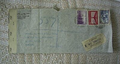 Argentina Wartime Registered Censored Cover From Buenos Airies To London