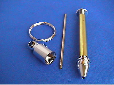 Woodturning New Style KEYRING PEN Kits x1 or x3 Gold/Chrome/Gun Metal OR Bushes