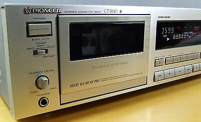 """PIONEER CT-S610 3-HEAD, DUAL-KAPSTAN with NEW BELTS & IDLER in """"MINT CONDITION"""""""
