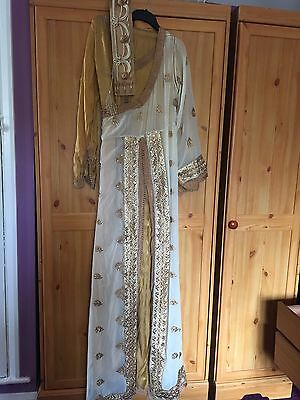 Moroccan Gold Bronze Kaftan Caftan Lebsa Indian Inspired Dress