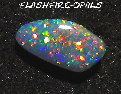 1.5 ct. BRILLIANZ 5+++ EDEL-GEM BLACK OPAL ROT-GRÜN-GOLD! VIDEO  FLASHFIRE-OPALS