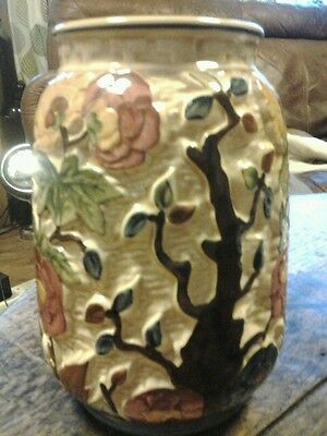 H J Wood  Indian Tree Vase 7 Inches High