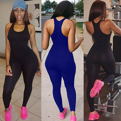 USA Women's Sports YOGA Workout Fitness Leggings Pants Jumpsuit Bodysuit Rompers