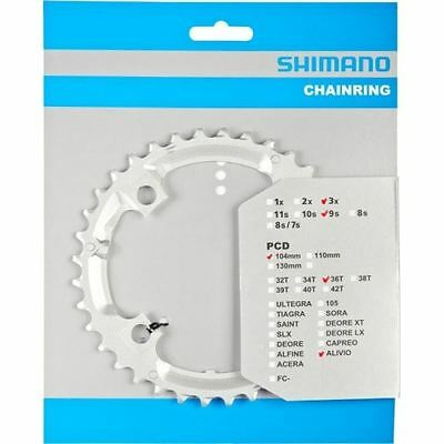 CHAINRING 36T Shimano Silver FC-M431 MTB Bike 9 Speed Middle Y1M298040