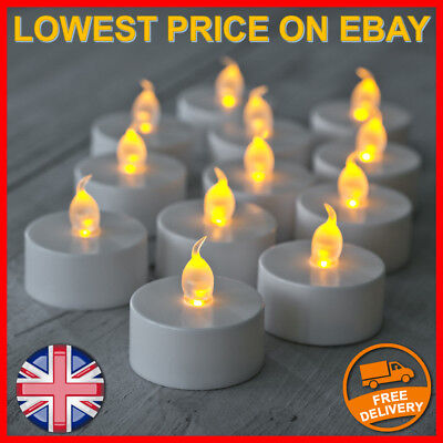 1-300 Flameless LED Tea Light Lights Candle Flickering Electric Battery Candles