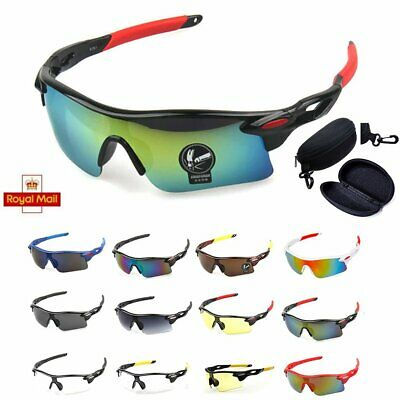 Mens Outdoor Sport Sun Glasses Cycling Bicycle Bike Riding Eyewear Goggle UV400