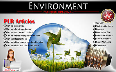 300+ PLR Articles on Environment Niche Private Label Rights