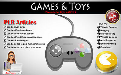 200+ PLR Articles on Games and Toys Niche Private Label Rights
