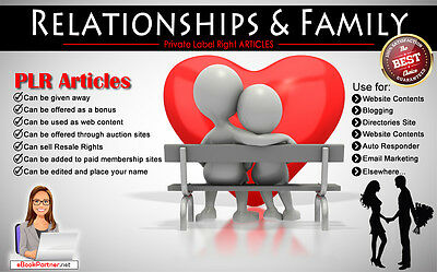 1000+ PLR Articles on Relationships and Family Niche Private Label Rights