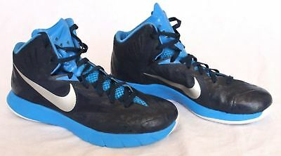 cc0ebb97d NIKE Lunarlon Hyperquickness Men s Basketball Shoes Size 11.5 Blue Sneakers  EUC