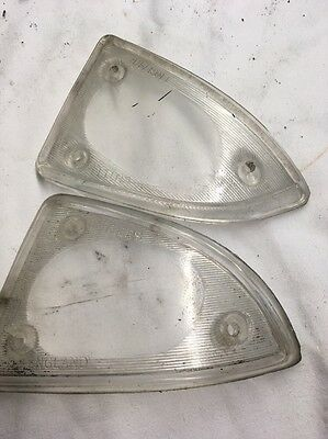 Ford Anglia 105e Clear Front Indicator Lenses Pair