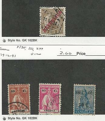 Angola, Postage Stamp, #110, 135, 151, 299 Used, 1912-1941 Portugal Colony