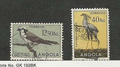 Angola, Postage Stamp, #350, 355 Used Birds, 1951 Portugal Colony