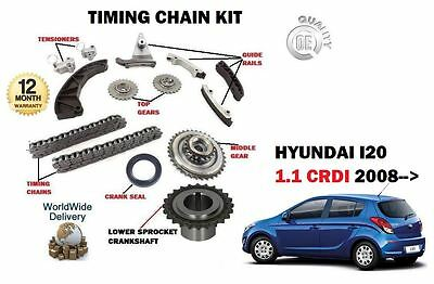 For Hyundai I20 1.1 Crdi  75Bhp 2008--> New Timing Chain Kit Complete With Gears