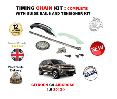 For Citroen C4 Aircross 1.6 2012-> Timing Chain Kit With Guide Rails + Tensioner