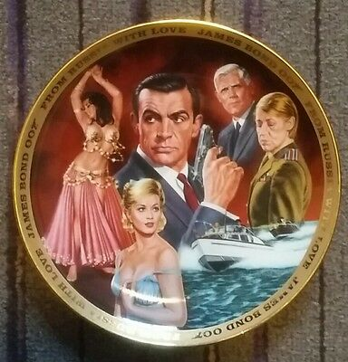 """Franklin Mint Collector's Plate JAMES BOND """"FROM RUSSIA WITH LOVE"""" . Ltd edition"""