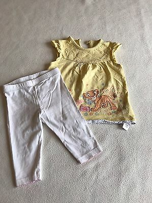 Baby Girls Clothes 3-6 Months - Cute Nala Disney Outfit - T Shirt Top & Leggings