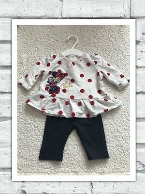 Baby Girls Clothes 0-3 Months - Disney Minnie  Outfit -  T Shirt Top  & Leggings