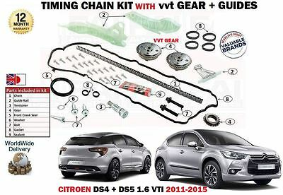For Citroen Ds4 Ds5 1.6 Vti Thp 120 200 2011-2015 Timing Chain Kit With Vvt Gear