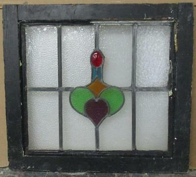 "OLD ENGLISH LEADED STAINED GLASS WINDOW Brilliant Abstract 20"" x 18.25"""