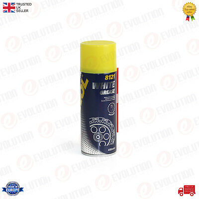 1 X 450ml MANNOL LITHIUM-BASED WASH RESISTANT WHITE GREASE FOR METAL SPARE PARTS