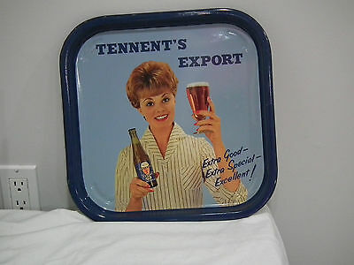 Vintage 60S Tennent's Export Advertising Beer Tray British