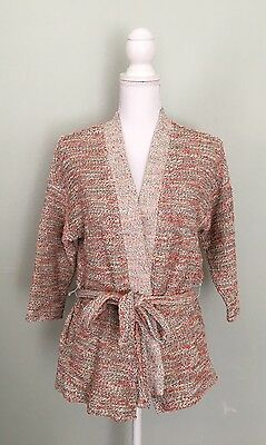 Old Navy Maternity Wrap Sweater Medium Cardigan Textured Robe Cotton