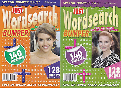Wordsearch Books - 2 Book set - 280 Puzzles - New  (Set 119)
