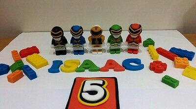 Edible Power Rangers Cake Decoration Set Boys Birthday Party Personalised