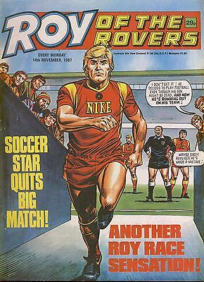 Roy of the Rovers Comic 14th November 1987 ref65