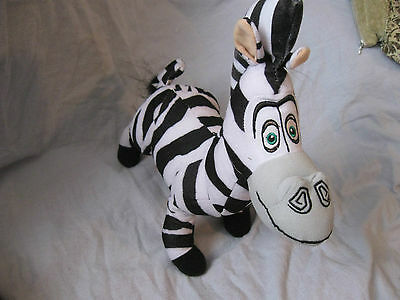 "2013 Dreamworks Madagascar 3 Approx 14"" Marty the Zebra Plush By Toy Factory"