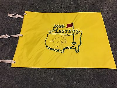 Danny Willett 2016 Masters CHAMPION AUTOGRAPHED MASTERS FLAG