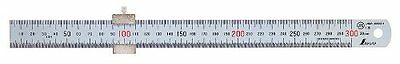 New SHINWA 30cm 300mm Stainless Steel Mini Ruler Scale with Stopper for Work...