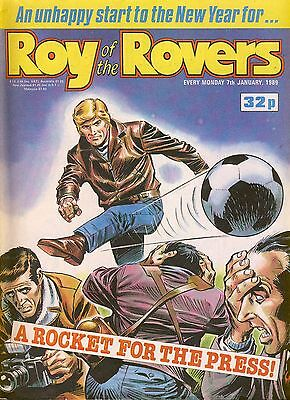 Roy of the Rovers comic 7th January 1989 ref042