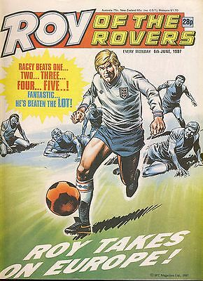 Roy of the Rovers comic 6th June 1987 ref059
