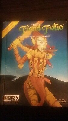 advanced dungeons and dragons fiend folio guide 1st print tsr hardcover