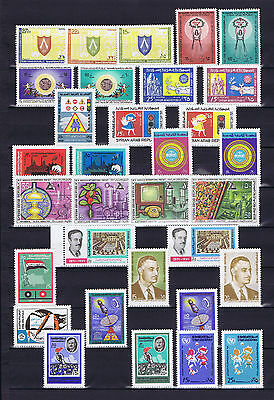 Syria, Complete Year Sets 1971 According to SG Cat. & As Per Scan, MNH.
