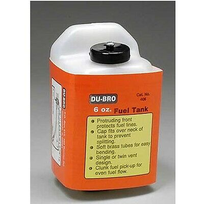 Dubro 406 S6 Square Airplane Fuel Tank 6 oz