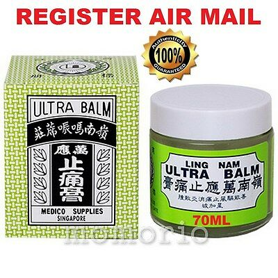 Hong Kong Ling Nam Ultra Balm Pain Relief/Joints/Muscles Healing Massage Rub