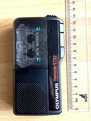Olympus Pearlcorder S722 microcassette recorder