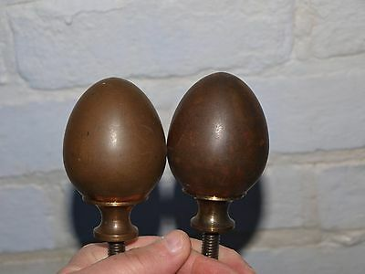 2 RECLAIMED VICTORIAN BRONZE or BRASS BED FRAME KNOB FINISHER FINIAL - 54mm WIDE